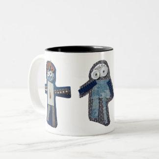 ROBOTS nina, siena, jaisal Two-Tone Coffee Mug