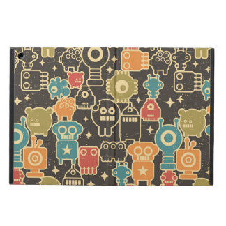 Robots on brown case for iPad air