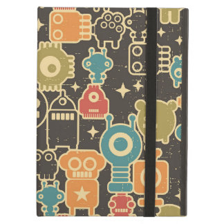 Robots on brown iPad air cover