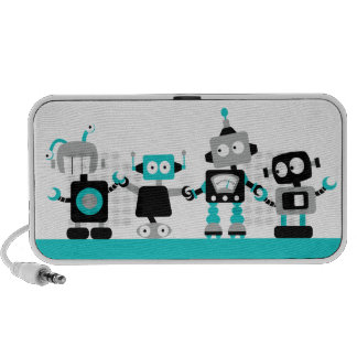 Robots - Pink Mp3 Speakers