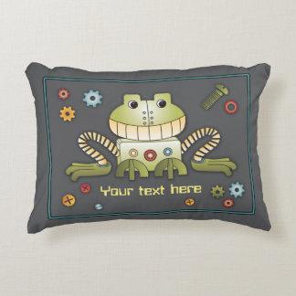 Robots Play Bedding Coordinate - Robot Frog Pillow