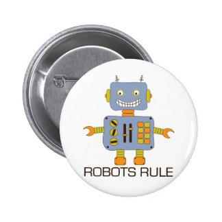 Robots Rule 6 Cm Round Badge