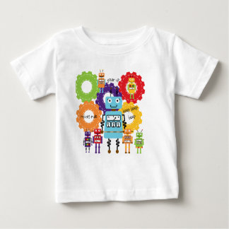 Robots Rule Baby T-Shirt