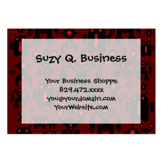 Robots Rule Fun Robot Silhouettes Red Robotics Business Card Template