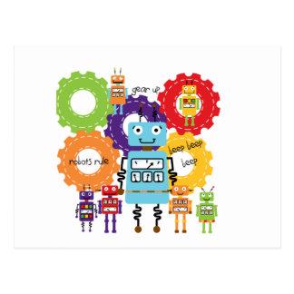Robots Rule Postcard