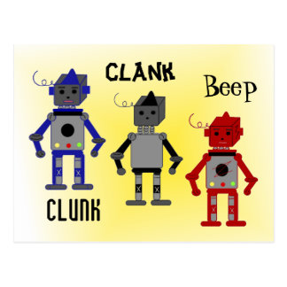 Robots with Funny Sayings Postcard