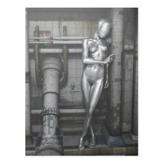 Robotwoman Postcard