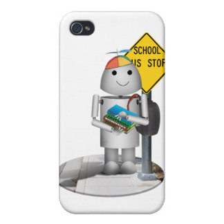 Robox9 at The Bus Stop - Back To School Covers For iPhone 4