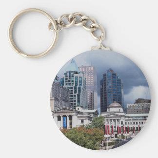 Robson Square, city center, Vancouver, British Col Key Chain