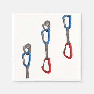 Rocck Climb Abseil Belay Carabiner Disposable Napkin