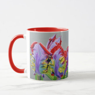 Rocco Parrot Tulip, unusual curly pedals, colorful Mug