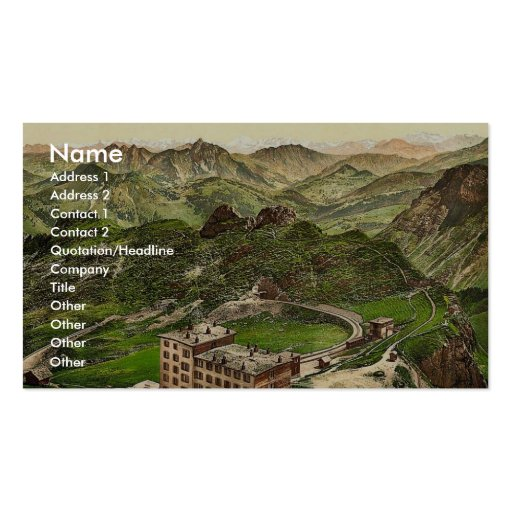 Rochers de Naye, the Summit and the Alps, Geneva L Business Card