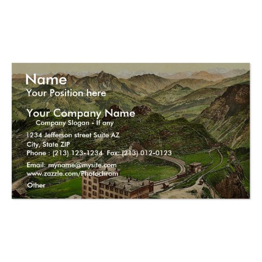 Rochers de Naye, the Summit and the Alps, Geneva L Business Card Template