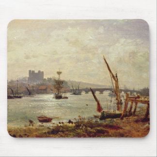 Rochester Cathedral and Castle, c.1820-30 (oil on Mouse Pad