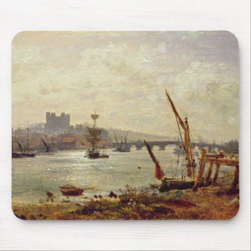 Rochester Cathedral and Castle, c.1820-30 (oil on Mousepads