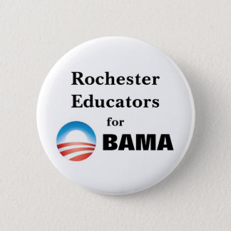 Rochester Educators for Obama 6 Cm Round Badge
