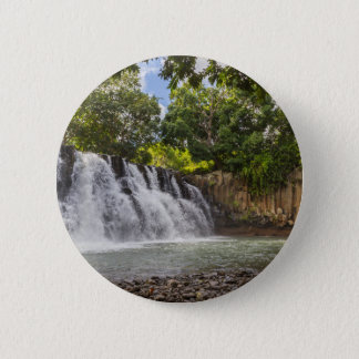 Rochester Falls waterfall in Souillac Mauritius 6 Cm Round Badge