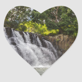 Rochester Falls waterfall in Souillac Mauritius Heart Sticker