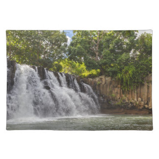 Rochester Falls waterfall in Souillac Mauritius Placemat