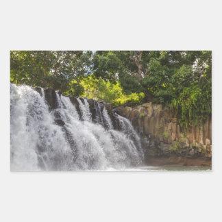 Rochester Falls waterfall in Souillac Mauritius Rectangular Sticker