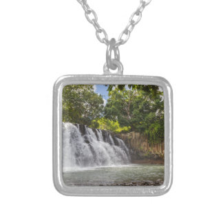 Rochester Falls waterfall in Souillac Mauritius Silver Plated Necklace