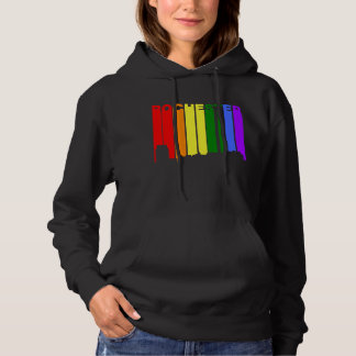 Rochester Minnesota Gay Pride Rainbow Skyline Hoodie