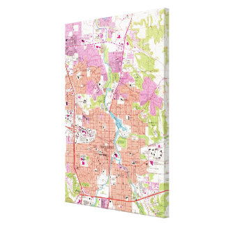 Rochester Minnesota Map (1972) Canvas Print