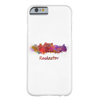 Rochester MN skyline in watercolor Barely There iPhone 6 Case