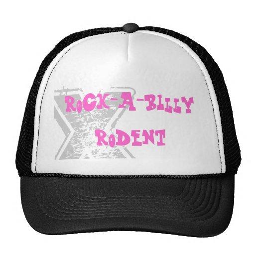 rock-a-billy rodent trucker hat