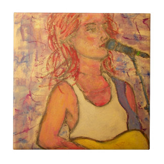 Rock Acoustic Girl Tile