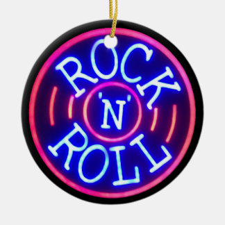 Rock and Roll Ceramic Ornament