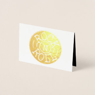Rock and Roll Foil Card