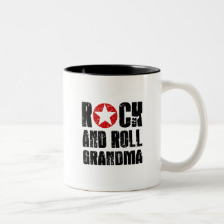 Rock and Roll Grandma Two-Tone Coffee Mug