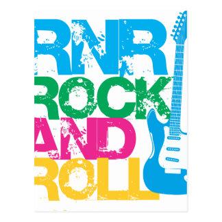 rock and roll guitar  mix color postcard