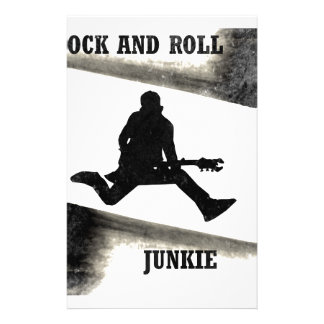 Rock and Roll Junkie Stationery
