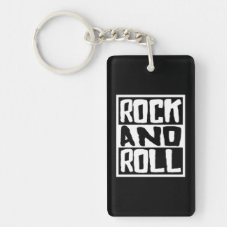 Rock and Roll Key Ring