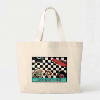 Rock and Roll Large Tote Bag
