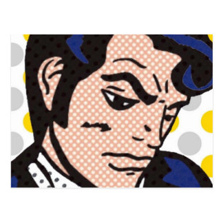 Rock and Roll Man Pop Art Postcard