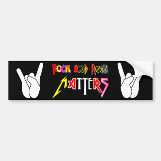 Rock and Roll Matters Classic Bumper Sticker