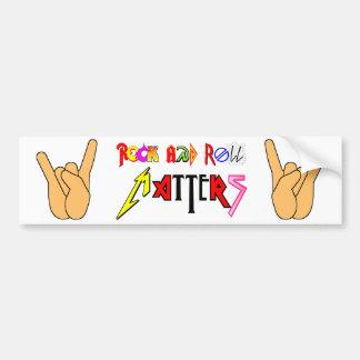 Rock and Roll Matters Classic Bumper Sticker