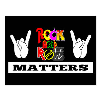 Rock and Roll Matters Postcard