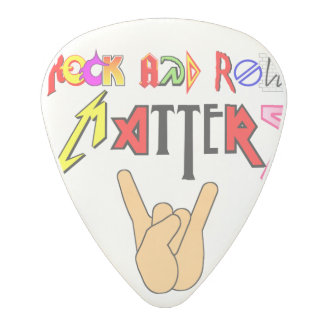 Rock and Roll Matters White Guitar Pick