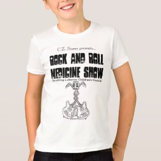 Rock and Roll Medicine Show kid's ringer tee