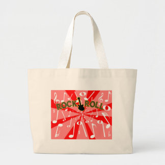 Rock And Roll Noise Large Tote Bag