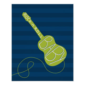 Rock and Roll nursery art Poster