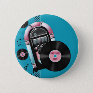 Rock and Roll Party 6 Cm Round Badge