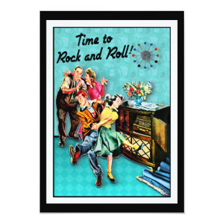 Rock and Roll Retro Jukebox Party Custom Card