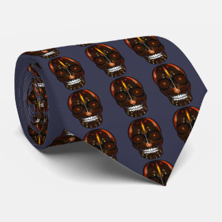Rock and Roll Skull Tie