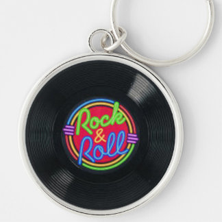 Rock and Roll Vinyl Record Key Chain
