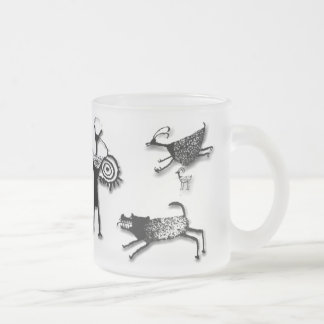 Rock Art Collage Frosted Glass Coffee Mug